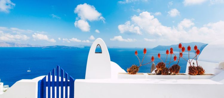 The traditional villages of Santorini